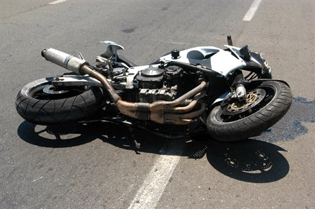 motor bike crash