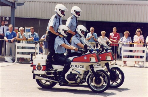 Jersey Police Motorcycle Display Open Day 1992