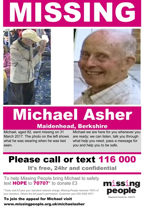 Missing Person Poster ASHER